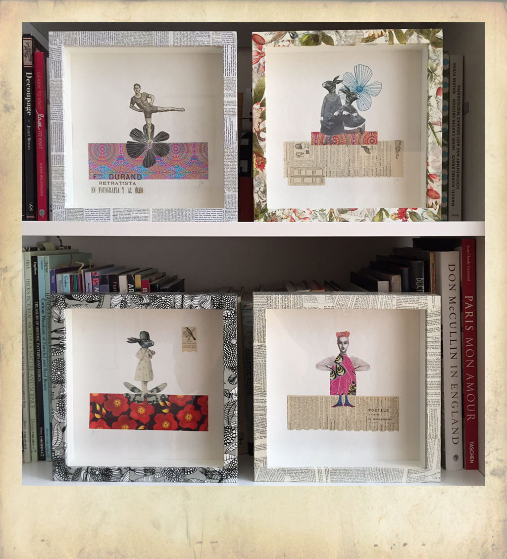 Ikea hacks ribba frames gabriela szulman art i often use decoupaged frames for my own collages the image below shows a display from the studio jeuxipadfo Image collections