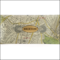 map of brixton decoupage glass dish